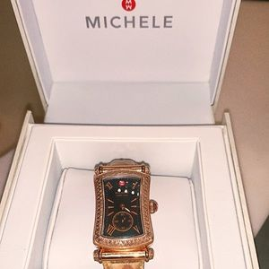 Authentic Michele Rose Gold Watch